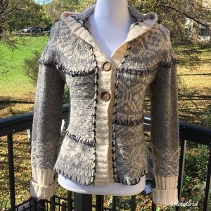 Free People Hooded Two Button Cardigan